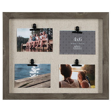 13 x 16 4-Clip Photo Frame, Charcoal - Sam\'s Club