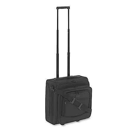 Kantek Dual-Side Rolling Computer/Overnight Case, Nylon, Black