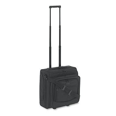 Kantek Dual-Side Rolling Computer/Overnight Case, Nylon, Black