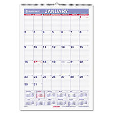 AT-A-GLANCE Erasable Wall Calendar, 15 1/2 x 22 3/4, White, 2017