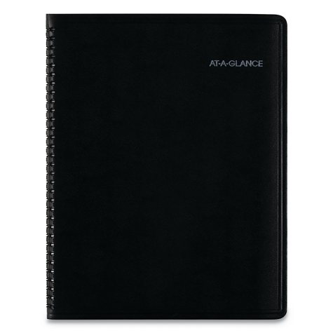 AT-A-GLANCE® QuickNotes Monthly Planner, 8 1/4 x 10 7/8, Black, 2019