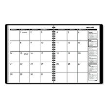 "AT-A-GLANCE - Monthly Planner, Black, 6 7/8"" x 8 3/4"" -  2015"