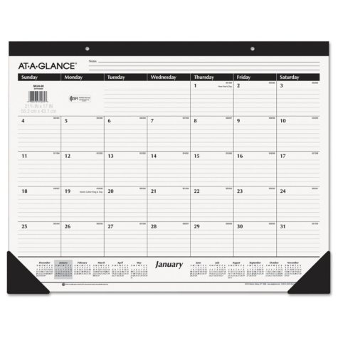"""AT-A-GLANCE Ruled Desk Pad, 22"""" x 17"""", 2018"""
