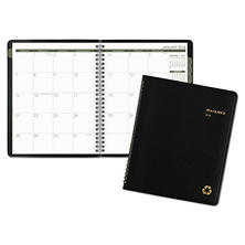 AT-A-GLANCE® Recycled Monthly Planner, 6 7/8 x 8 3/4, Black, 2018