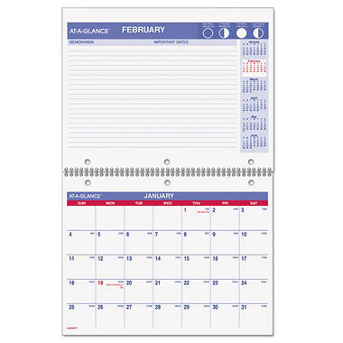 AT-A-GLANCE Recycled Desk/Wall Calendar, 11 x 8-1/2 -  2015