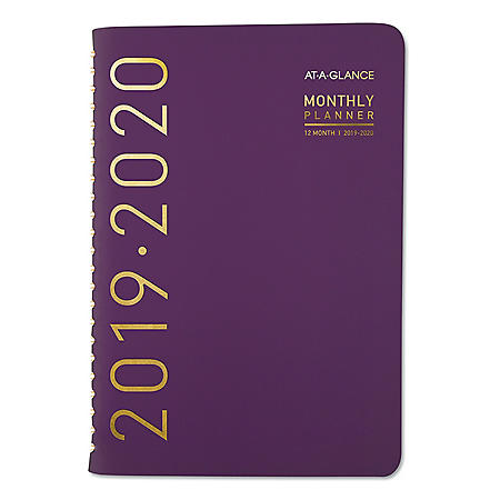 "AT-A-GLANCE Contemporary Academic Planner, 8"" x 4 7/8"", Purple, 2019-2020"