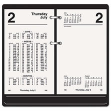 AT-A-GLANCE Financial Desk Calendar Refill, 3 1/2 x 6, White, 2017