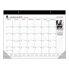 AT-A-GLANCE - Wounded Warrior Project Desk Pad, 22 x 17 -  2016