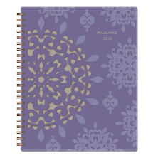 AT-A-GLANCE Vienna Weekly/Monthly Appointment Book, 5 x 8, Purple, 2017