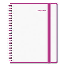 AT-A-GLANCE Color Play Weekly/Monthly Planner, 8 1/2 x 11, White/Purple, 2017
