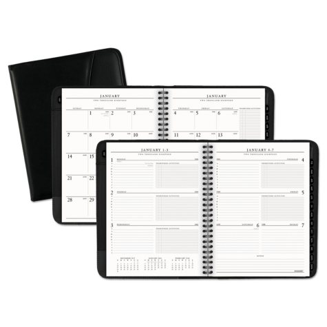 "AT-A-GLANCE Executive Weekly/Monthly Appointment Book, 6 5/8"" x 8 3/4"", White, 2018-2019"