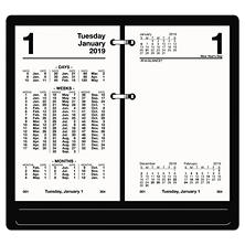 AT-A-GLANCE® Financial Desk Calendar Refill, 3 1/2 x 6, White, 2018
