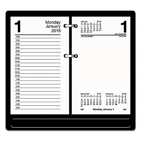 AT-A-GLANCE Recycled Desk Calendar Refill, 3 1/2 x 6, White, 2020