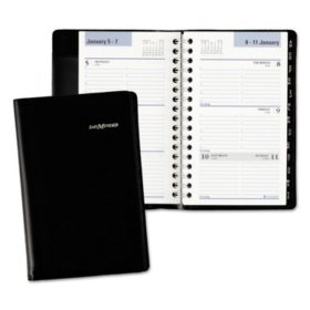 AT-A-GLANCE® DayMinder® Refillable Weekly Pocket Appt Book, Phone/Address Tabs, 3 3/4 x 6, Black, 2018