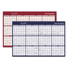 AT-A-GLANCE® Reversible Horizontal Erasable Wall Planner, 48 x 32, 2018