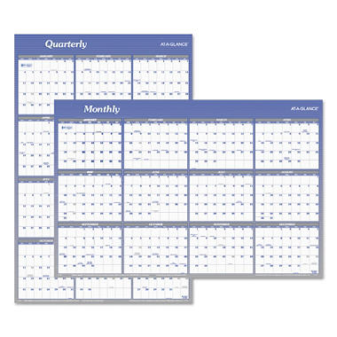 AT-A-GLANCE® Vertical/Horizontal Erasable Wall Planner, 24 x 36, 2018