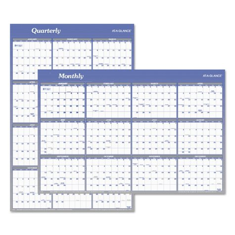 AT-A-GLANCE® Vertical/Horizontal Erasable Wall Planner, 24 x 36, 2019