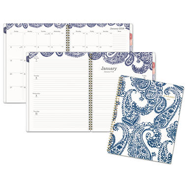 at a glance paige weekly monthly planner 8 1 2 x 11 navy white