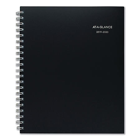 """AT-A-GLANCE Teacher Collection Academic Planner, 11"""" x 8 1/2"""", Navy, 2019-2020"""