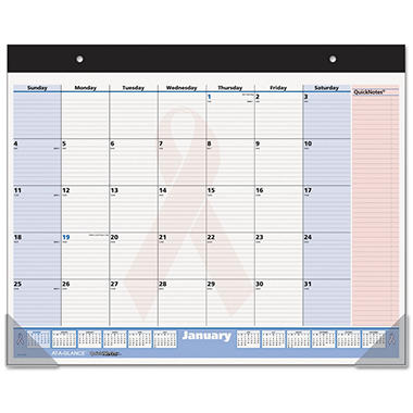 AT-A-GLANCE QuickNotes Special Edition Desk Pad, 22
