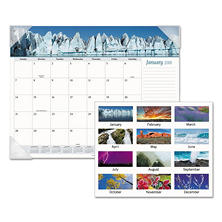 AT-A-GLANCE® Mother Nature Recycled Monthly Desk Pad, 22 x 17, 2018