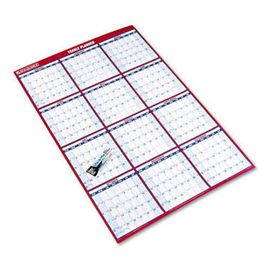 At-A-Glance Laminated/Erasable Wall Calendar