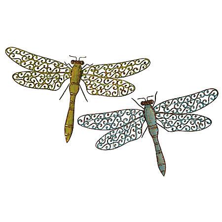 Metal Dragonflies - Set of 2
