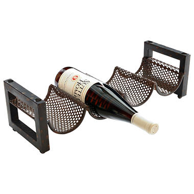 Metal 4 Bottle Wine Rack