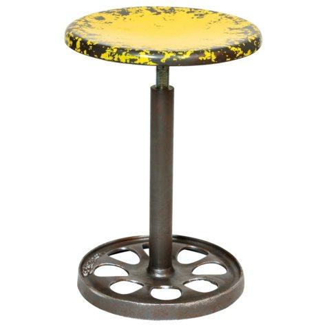 Yellow Adjustable Metal Stool