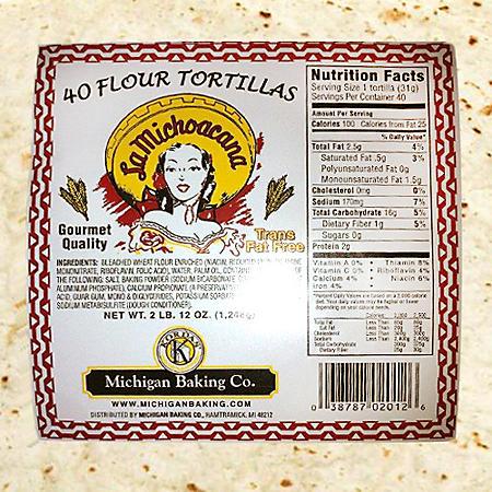 La Michoacana Flour Tortillas (44oz)