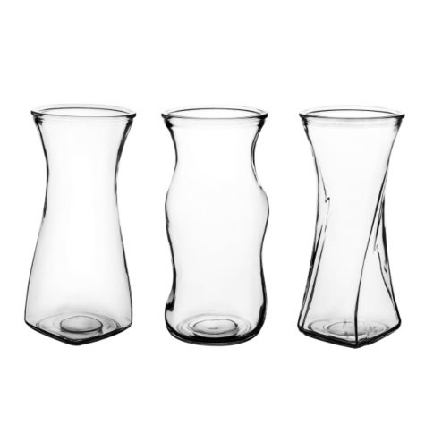 "Glass Vase Assortment - Choose your color (8 1/2"", 12 ct.)"