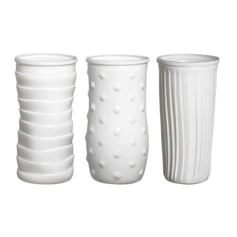 "8 1/2"" White Rose Vase Assortment (12 ct.)"