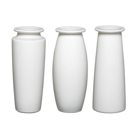 "9"" White Trio Bouquet Vase Assortment (12 ct.)"