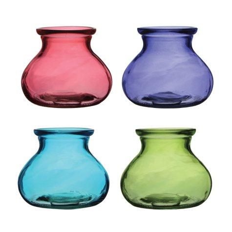 "5"" Rosie Posie Vase, 4 Color Vintage Assortment (12 ct.)"