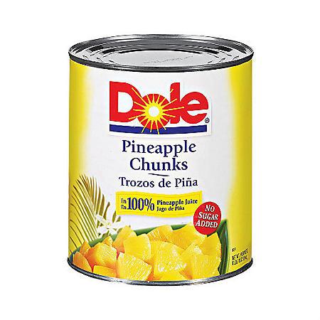 Dole Pineapple Chunks - 106 oz. can