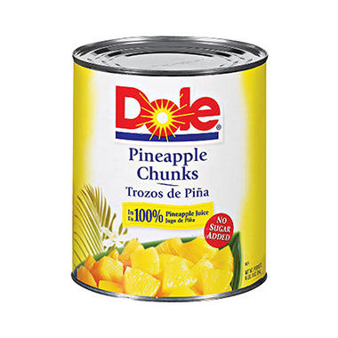 dole pineapple chunks 106 oz can sams club