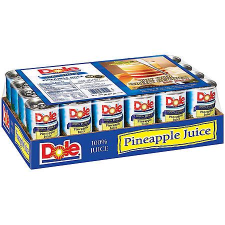 Dole 100% Pineapple Juice (6 oz., 24 pk.)