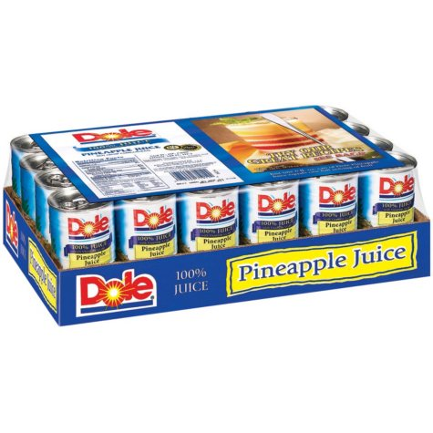 Dole 100% Pineapple Juice - 24/6 oz.