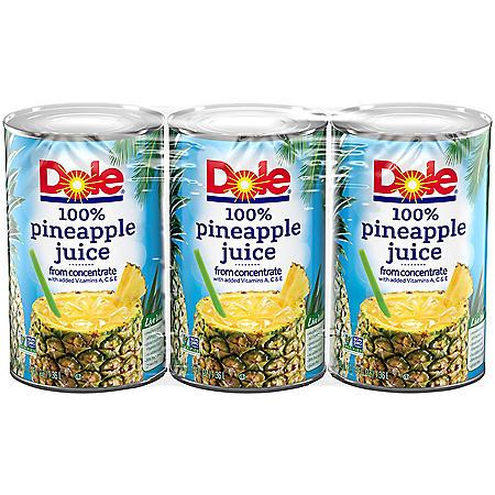 Dole Pineapple Juice (46 oz., 3 pk.)