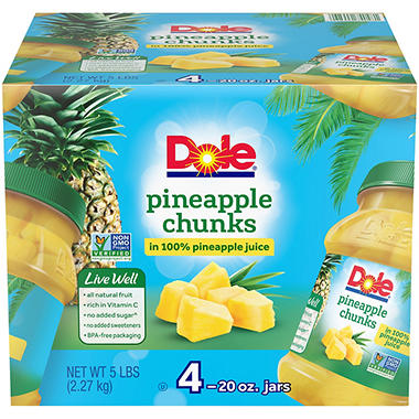 Dole Pineapple Chunks (20 oz., 4 ct.)