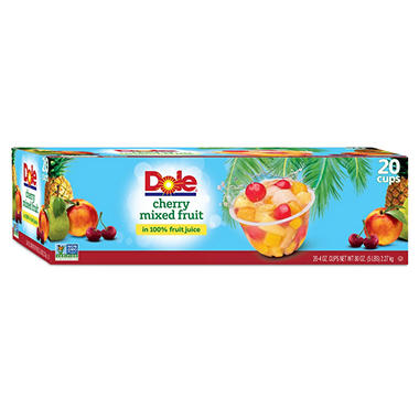 8536f3e4f38185 Dole Cherry Mixed Fruit (4 oz. cups, 20 ct.) - Sam s Club