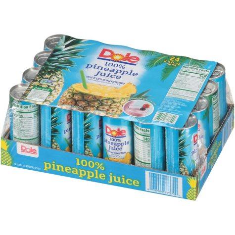 Dole 100% Pineapple Juice (8.4 oz., 24 ct.)
