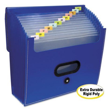"""C-Line - 13-Pocket Ladder Expanding File, 10"""" Exp., Letter, 13 x 12 -  Blue"""