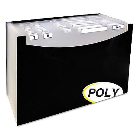 "C-Line - 21-Pocket Stand-Up Design Expanding File, 12"" Exp., Legal, 15 x 9 1/4 -  Black"