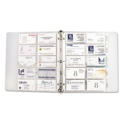 CLine Business Card Binder Pages Holds 20 Cards 8 18 x 11 14