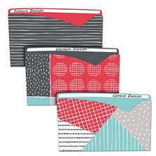 C-Line Write-On Fashion Poly File Jackets, Letter, Polypropylene, Assorted, 6/Pack