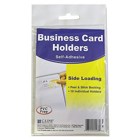C-Line Self-Adhesive Business Card Holders