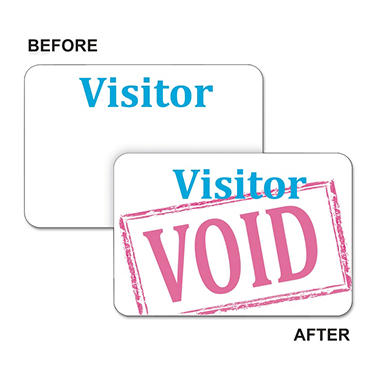 C-Line Self Expiring Visitor Badge