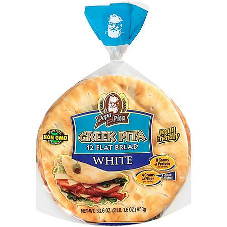 Papa Pita Greek Pita Flat Bread (34oz)