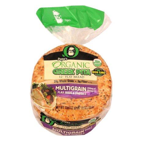 Papa's Organic Multigrain Greek Pita (24 oz.)